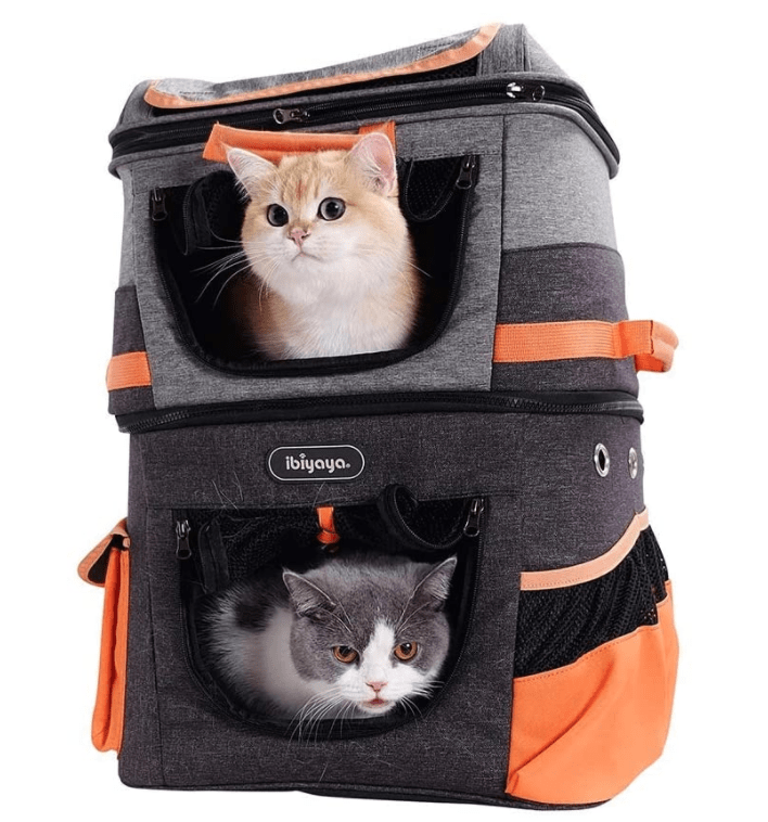 ibiyaya Double Decker Cat Backpack