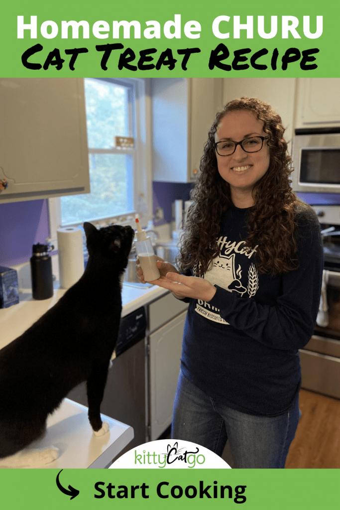 Homemade Churu Cat Treat Recipe - pin
