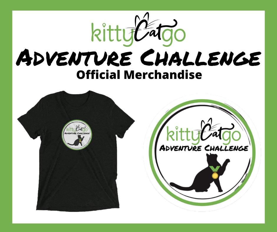 KittyCatGO Adventure Challenge Official Merchandise - shirt and sticker