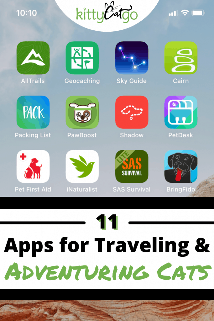 11 Apps for Traveling & Adventuring Cats Pinnable Image